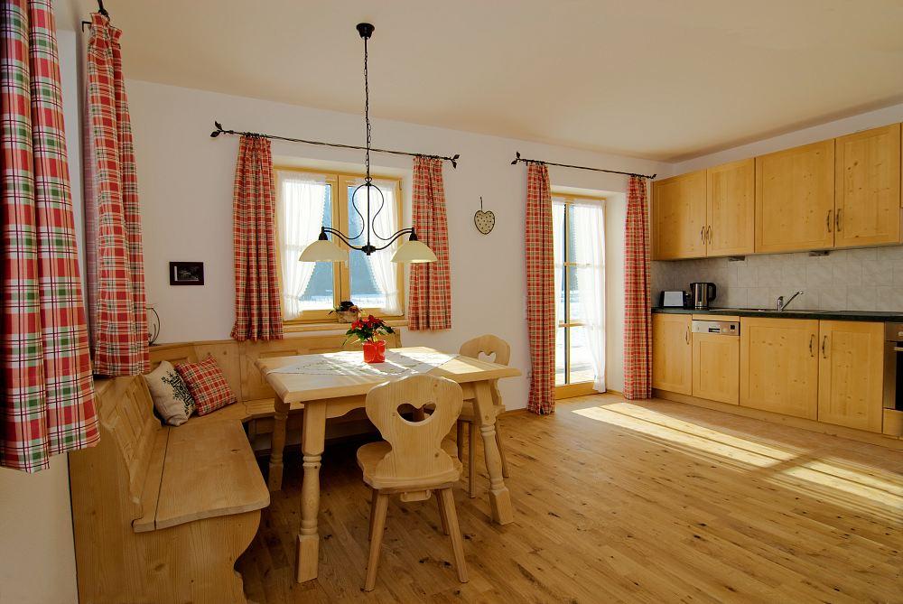 Küche der 4-Sterne Ferienwohnung Schwalbennest