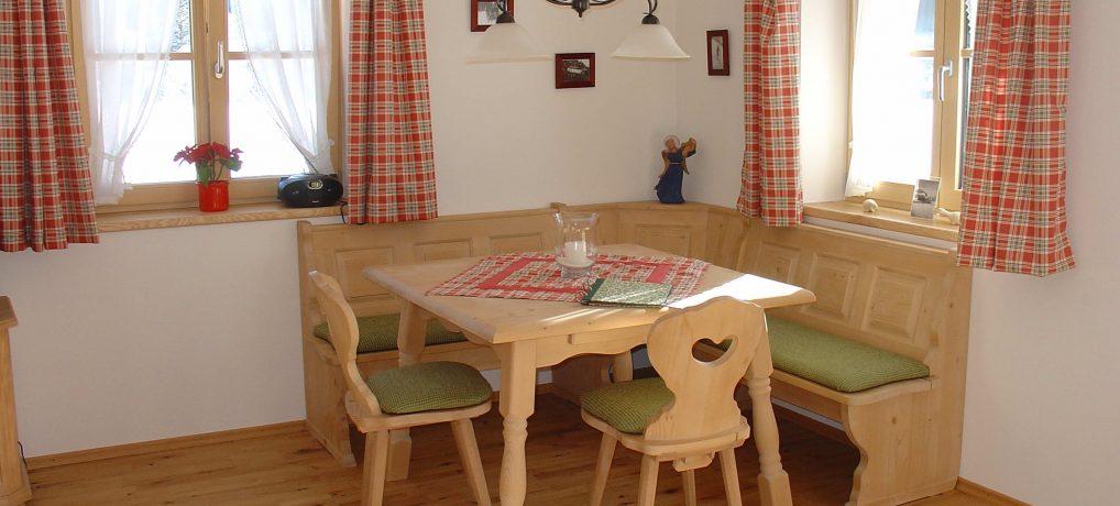 Küche der 4-Sterne Ferienwohnung Wiesenblume